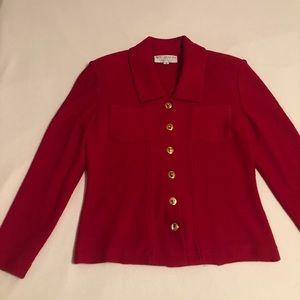St. John Collection Sz 4 Red Blazer